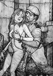 Tourist - He thrust forward a little, pushing more of his dark meat down her throat by Hines 2015